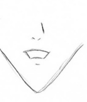 how to draw a slightly open mouth